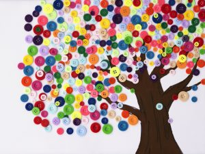 tree made of buttons