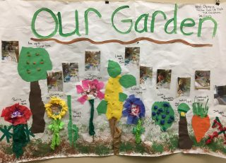 Paper collage of a garden